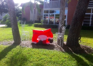 Santa Outside His Florida Condo