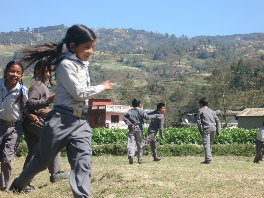 SPCS students enjoying recess.  March 2015. (Credit:  Jennifer Prestholdt)
