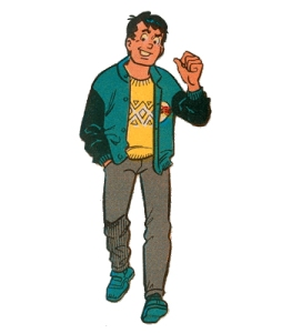 Reggie Mantle, the Eddie Haskell of the Archie comics.  Source: TVtropes.org
